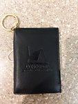 ID Holder CTS Leather w/Keychain Black