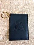 ID Holder CTS Leather w/Keychain Navy