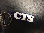Keyring - CTS Acrylic Blue w/White Letters