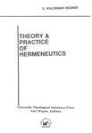 Theory and Practice of Hermeneutics