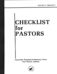 Checklist for Pastors
