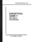 Exegetical Gems V