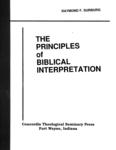 Principles of Biblical Interpretation