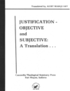 Justification- Objective and Subjective: A Translation...