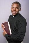 Clergy Shirt LS Tab Black 17.5 34/35